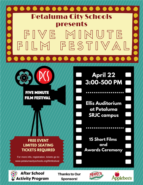 Five Minute Film Festival Flyer