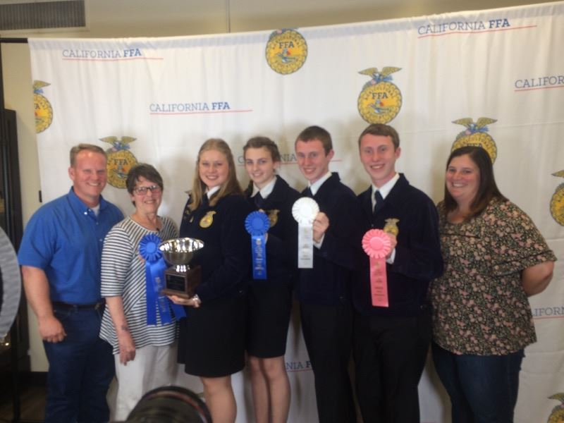 Petaluma High FFA with their trophies and ribbons
