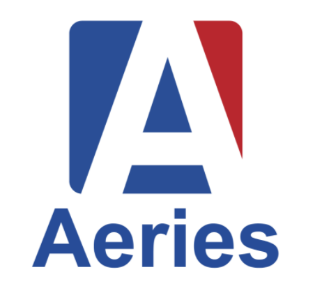 Aeries parent portal logo.