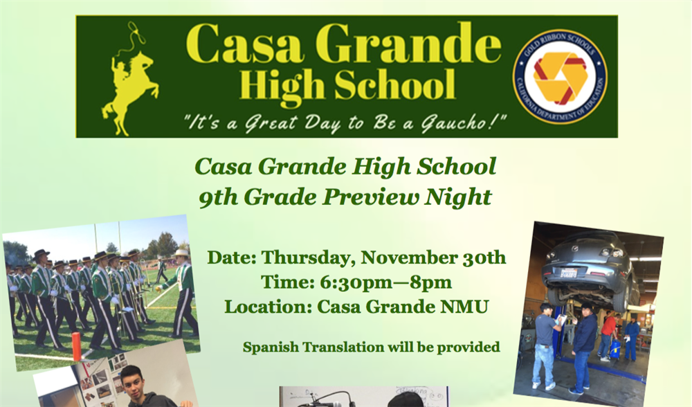 9th Grade Preview Night
