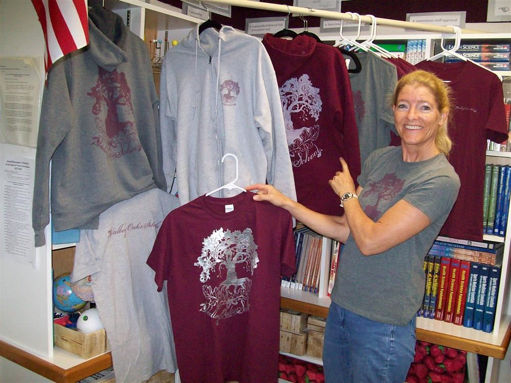Nora Parker with Valley Oaks t-shirts