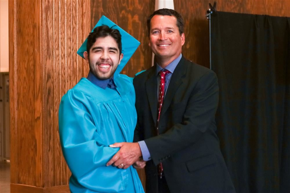 Photo of student graduating from Petaluma Adult School