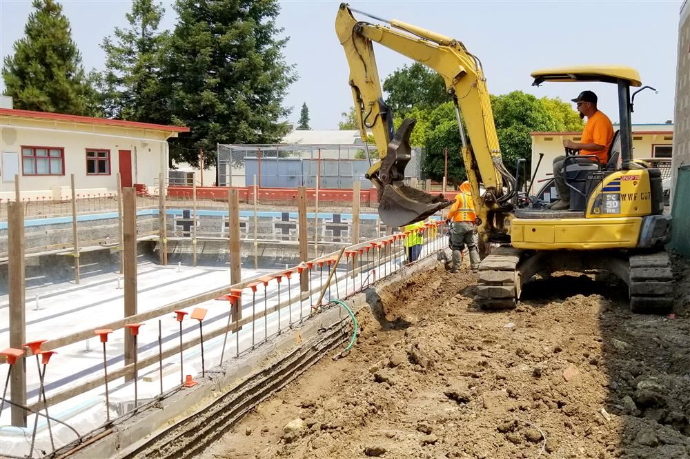 Pool construction at Petaluma High