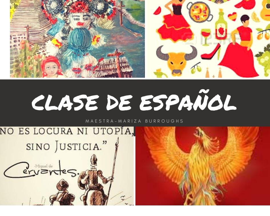 Spanish class collage