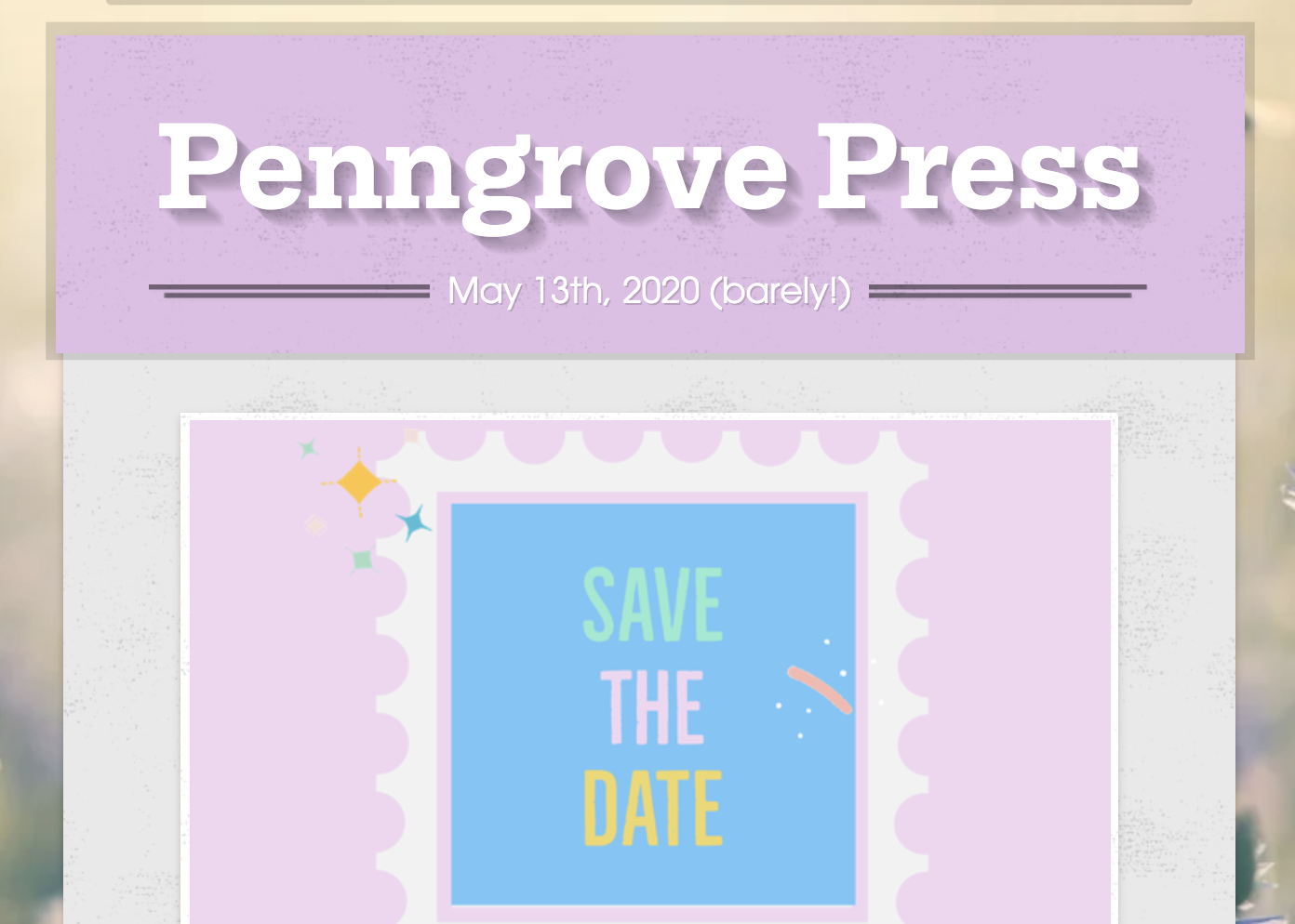 May 13, 2020 Newsletter