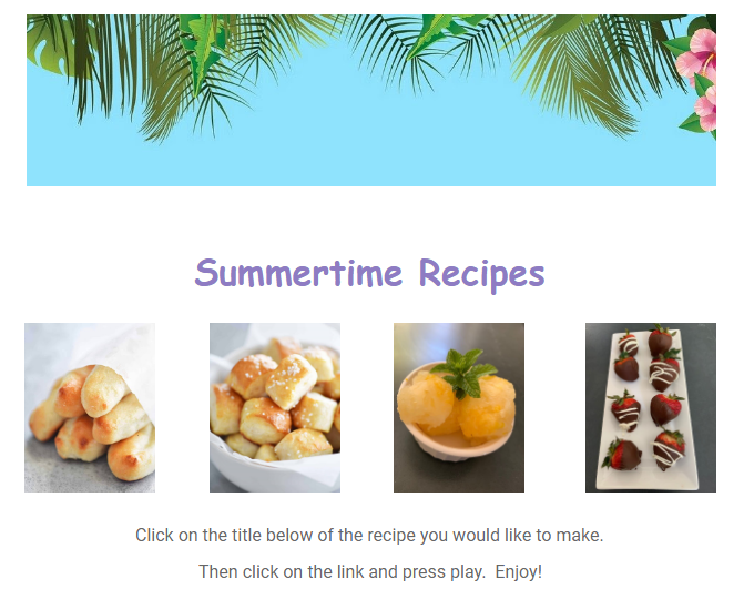Summertime Recipes!