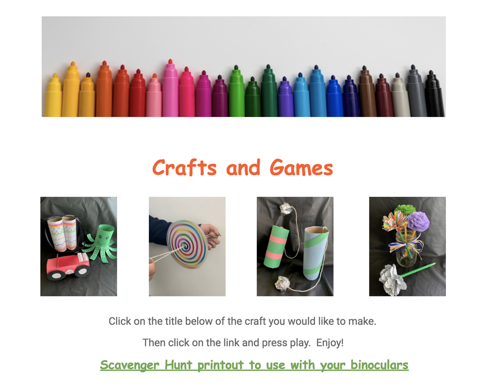 Crafts and Games