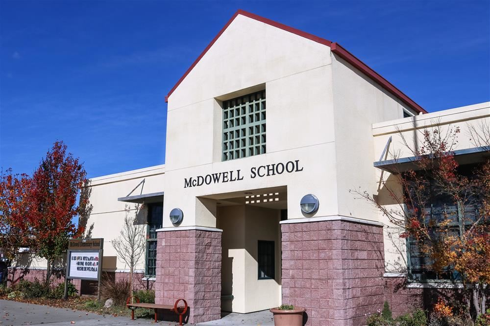Front of McDowell School