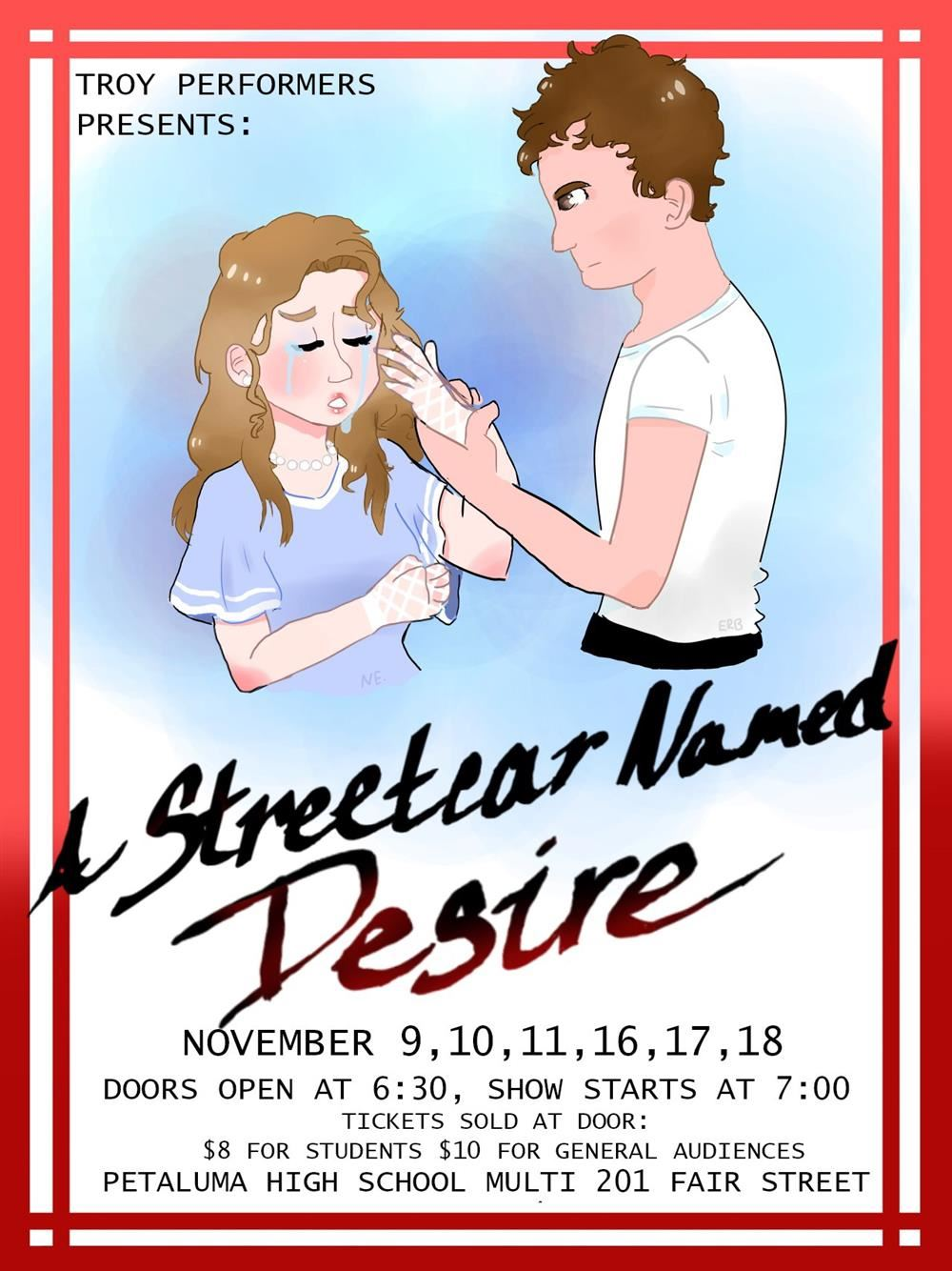 Troy Performers Presents:  A Streetcar Named Desire