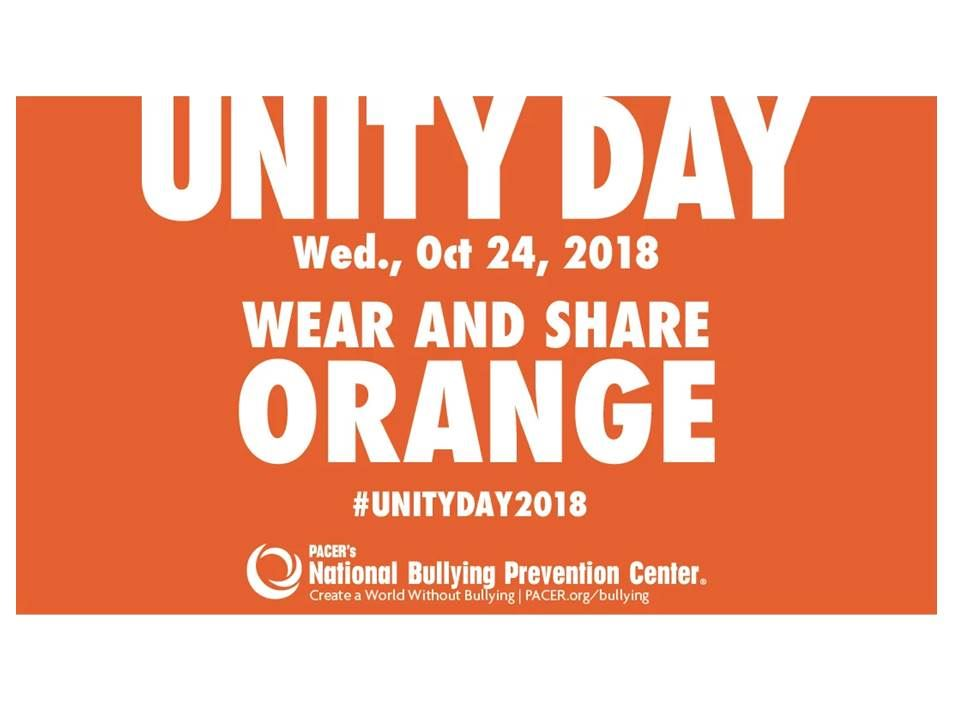 Help Prevent Bullying and Wear Orange on Oct 24th.