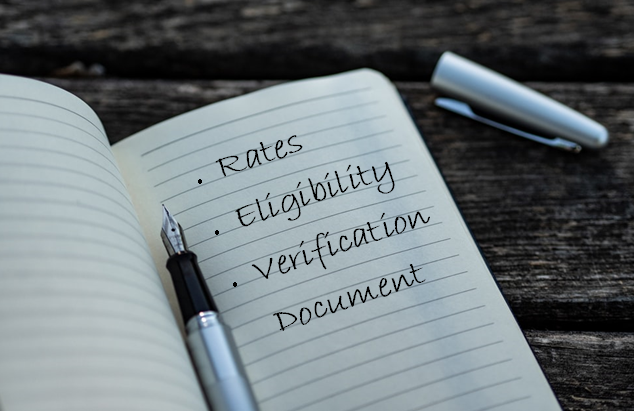 Rates, Eligibility & Verification Docs