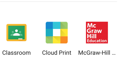 McGraw Hill and other apps