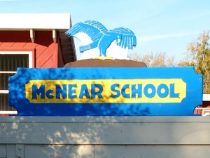 McNear School Sign