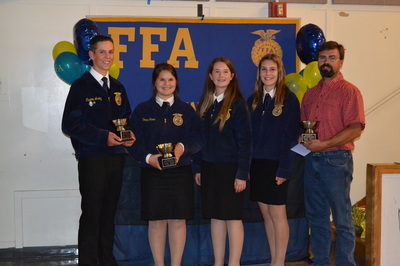 FFA Students with Teacher