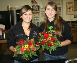 Floral Arrangement Students